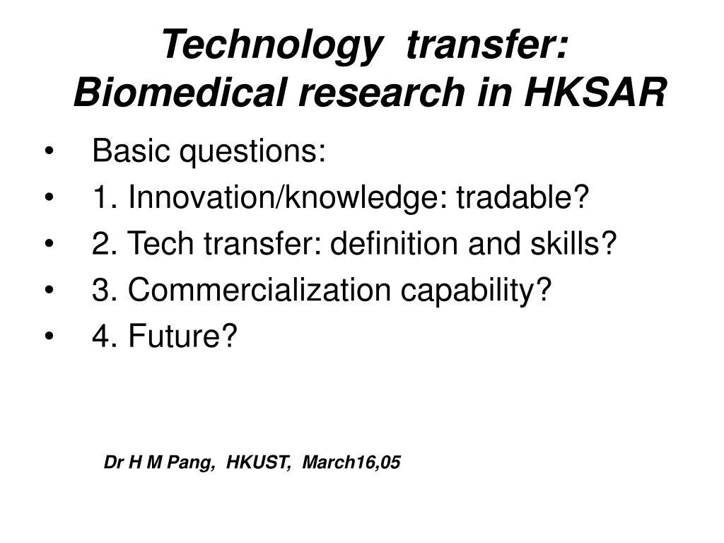 Technology  transfer:
