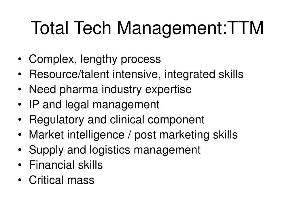 Total Tech Management:TTM