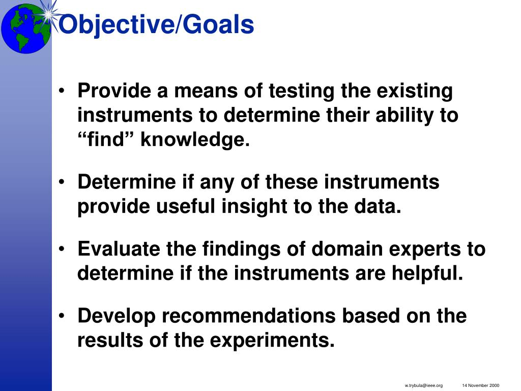 Objective/Goals
