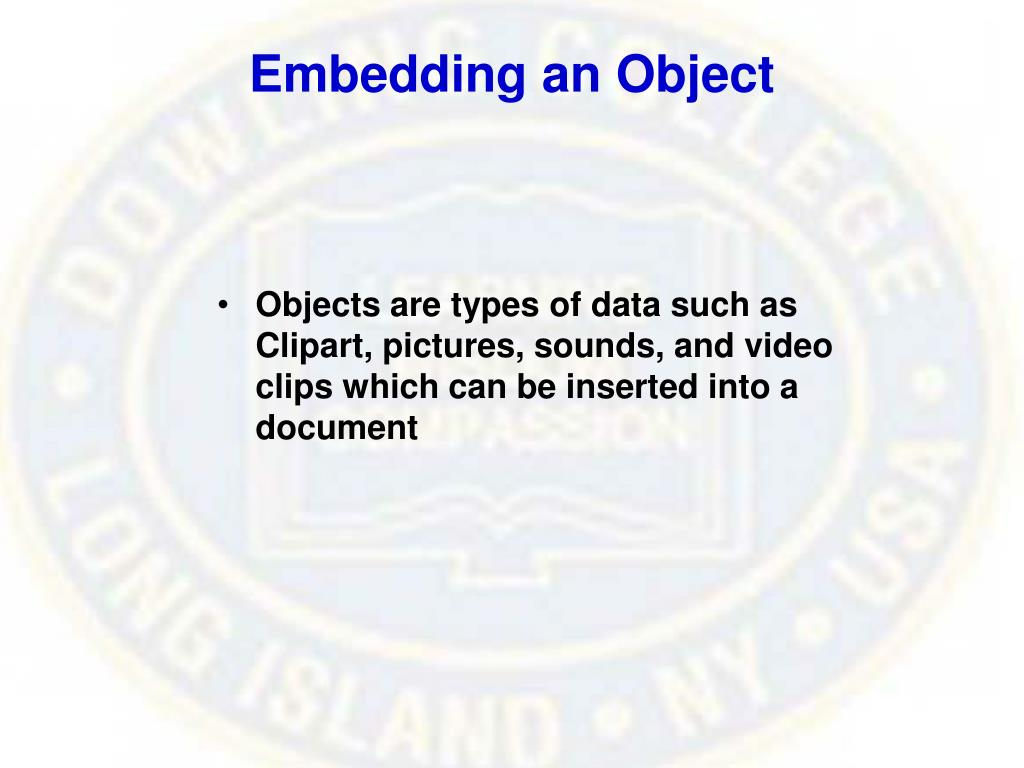 Embedding an Object