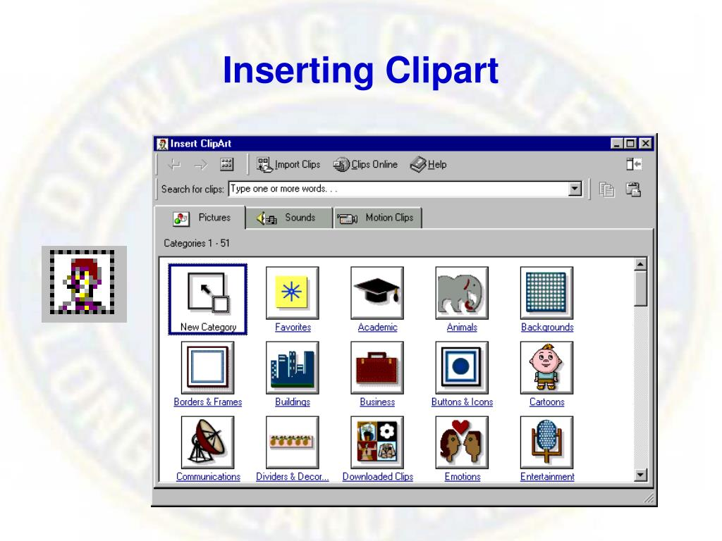 Inserting Clipart
