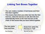 linking text boxes together