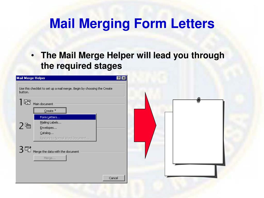 Mail Merging Form Letters