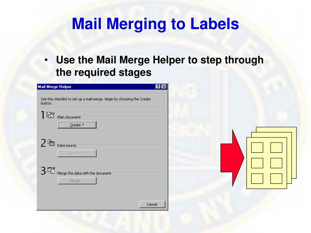 Mail Merging to Labels