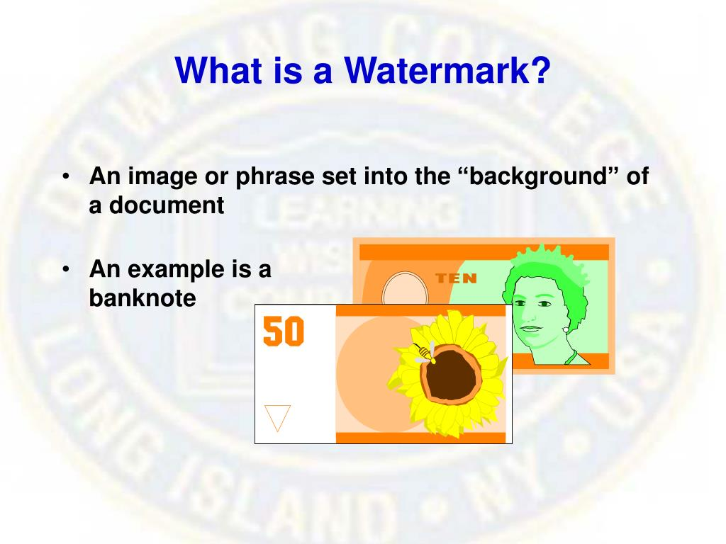 What is a Watermark?