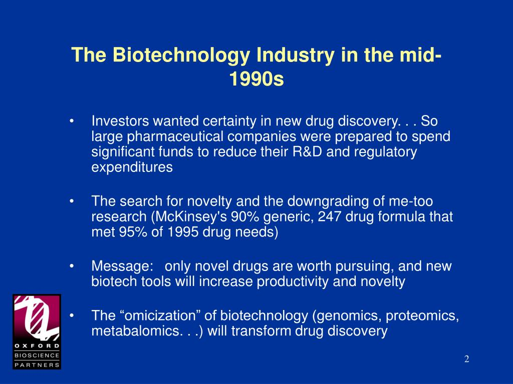 The Biotechnology Industry in the mid-1990s