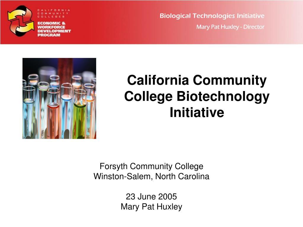 california community college biotechnology initiative