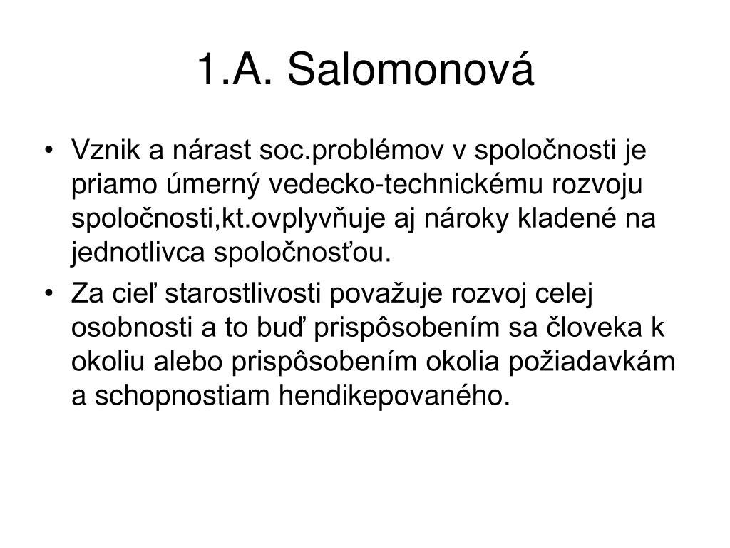 1.A. Salomonová