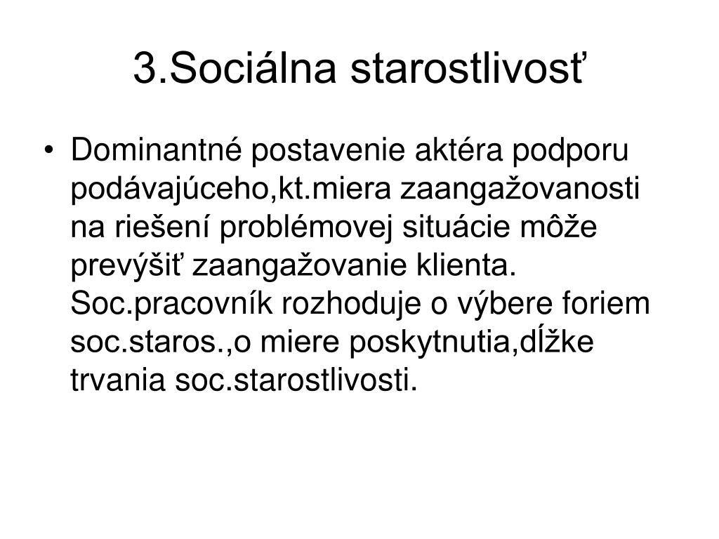 3.Sociálna starostlivosť