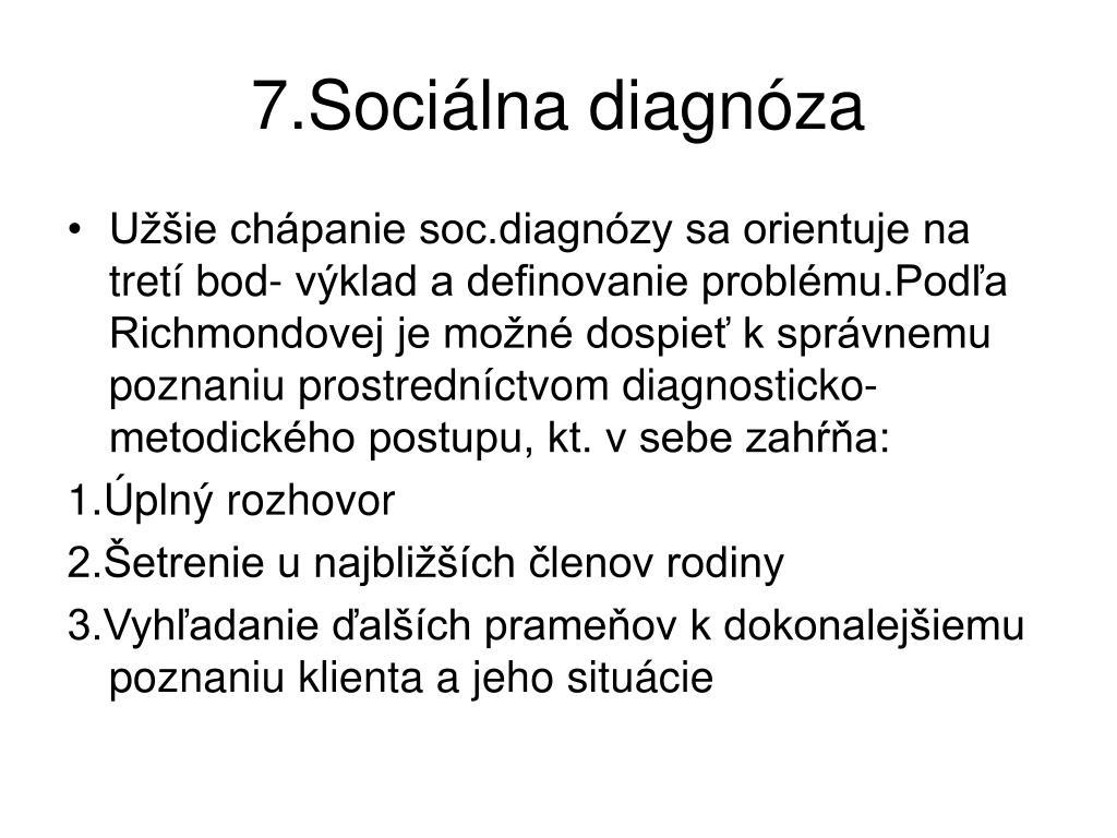 7.Sociálna diagnóza
