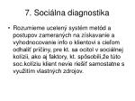 7 soci lna diagnostika