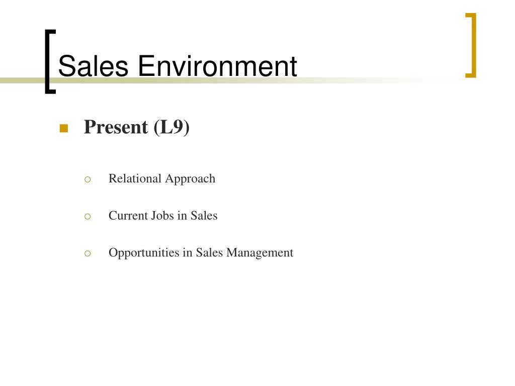 Sales Environment