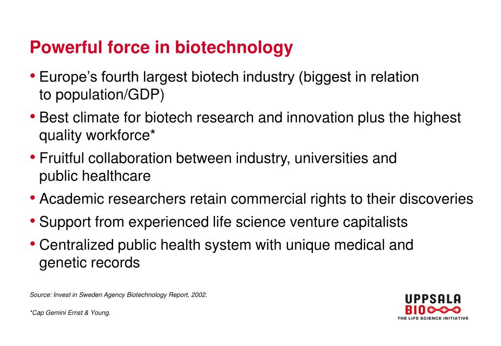 Powerful force in biotechnology
