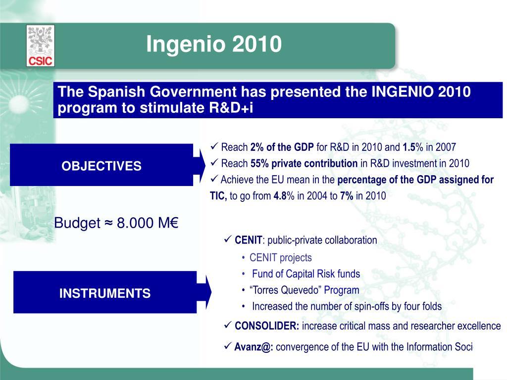 Ingenio 2010