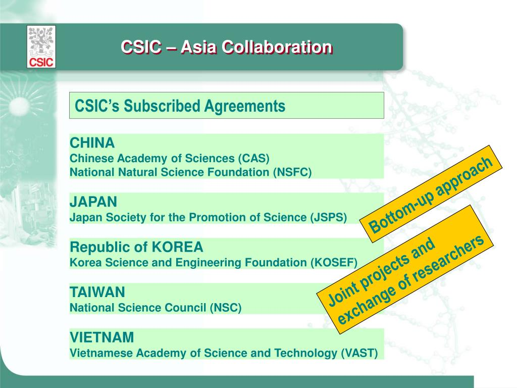 CSIC – Asia Collaboration