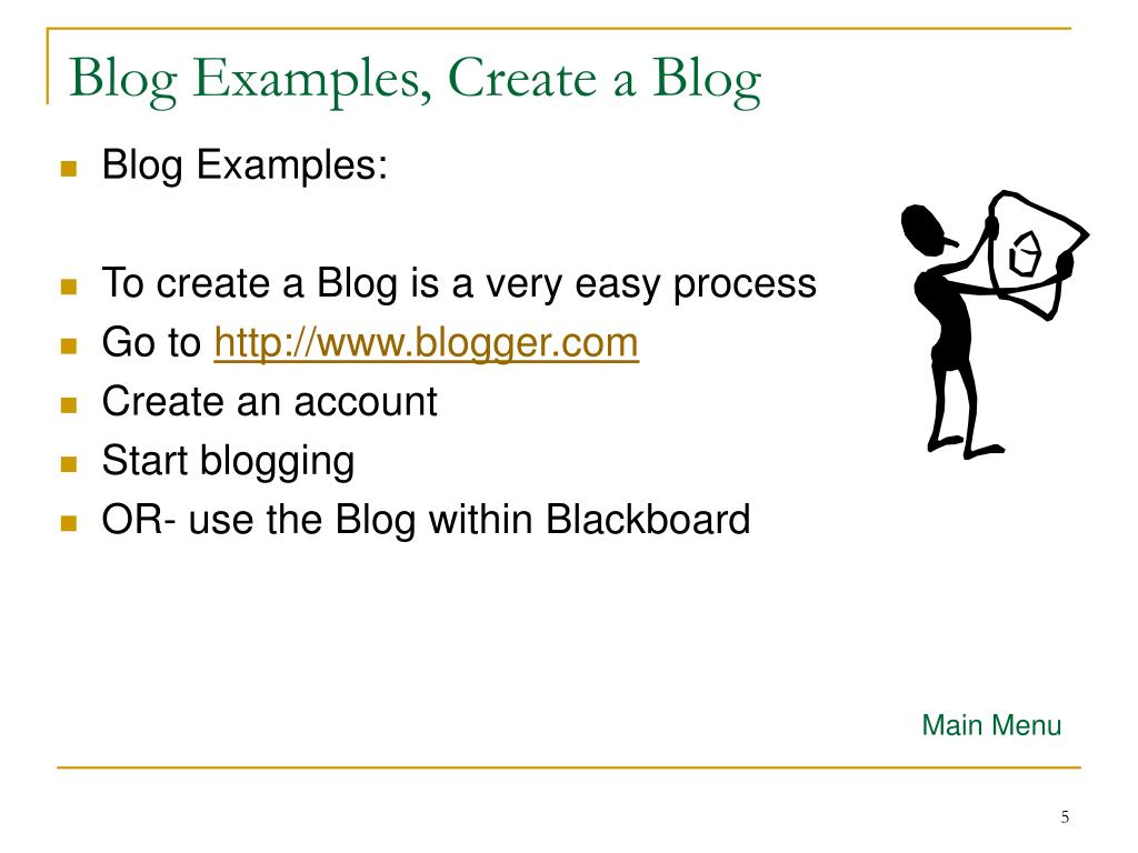 Blog Examples, Create a Blog