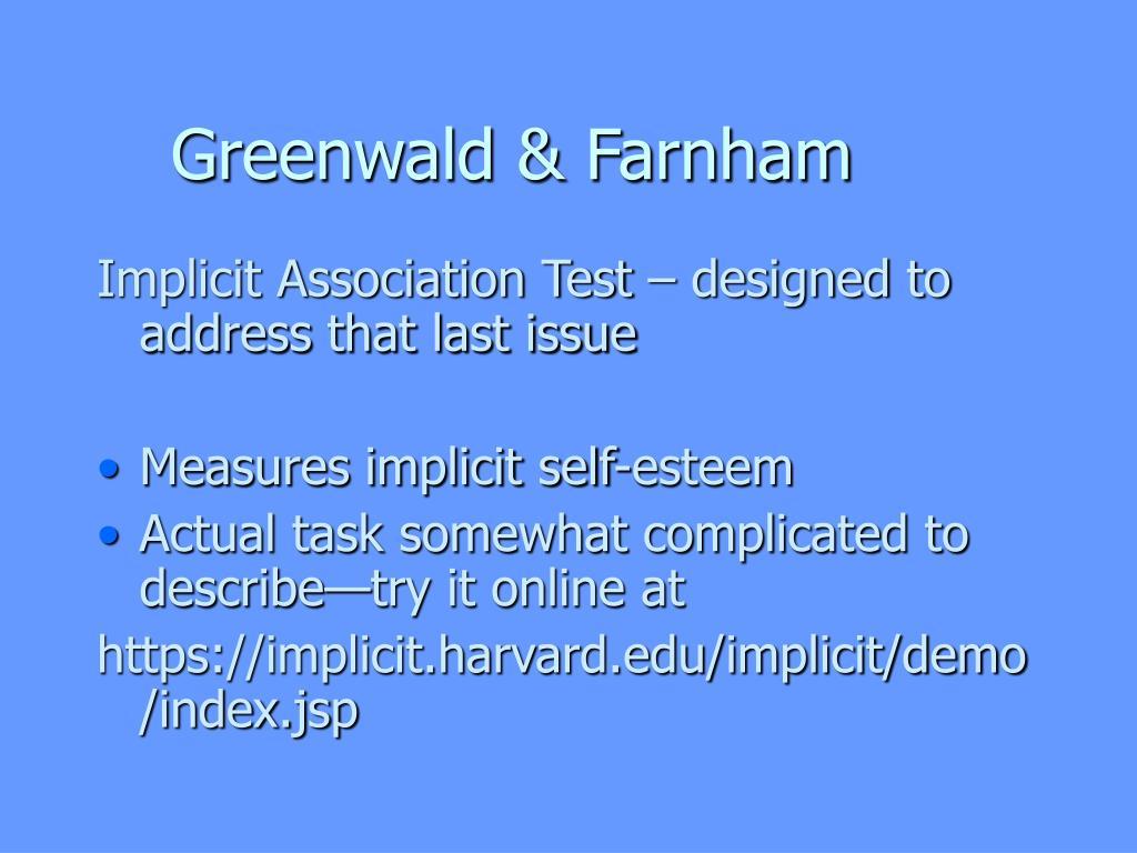 Greenwald & Farnham