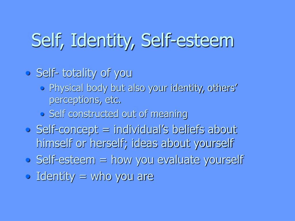 self identity self esteem