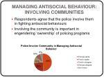 managing antisocial behaviour involving communities