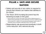pillar 4 safe and secure nation