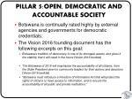 pillar 5 open democratic and accountable society