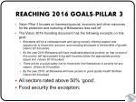 reaching 2016 goals pillar 3