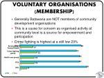 voluntary organisations membership