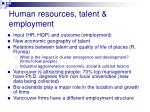 human resources talent employment