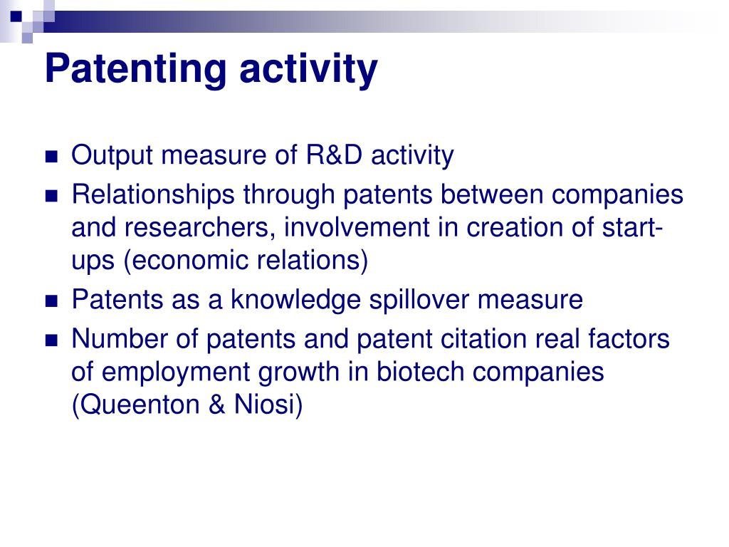 Patenting activity