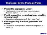 challenge define strategic vision