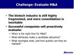 challenge evaluate m a