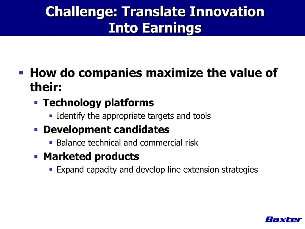 Challenge: Translate Innovation