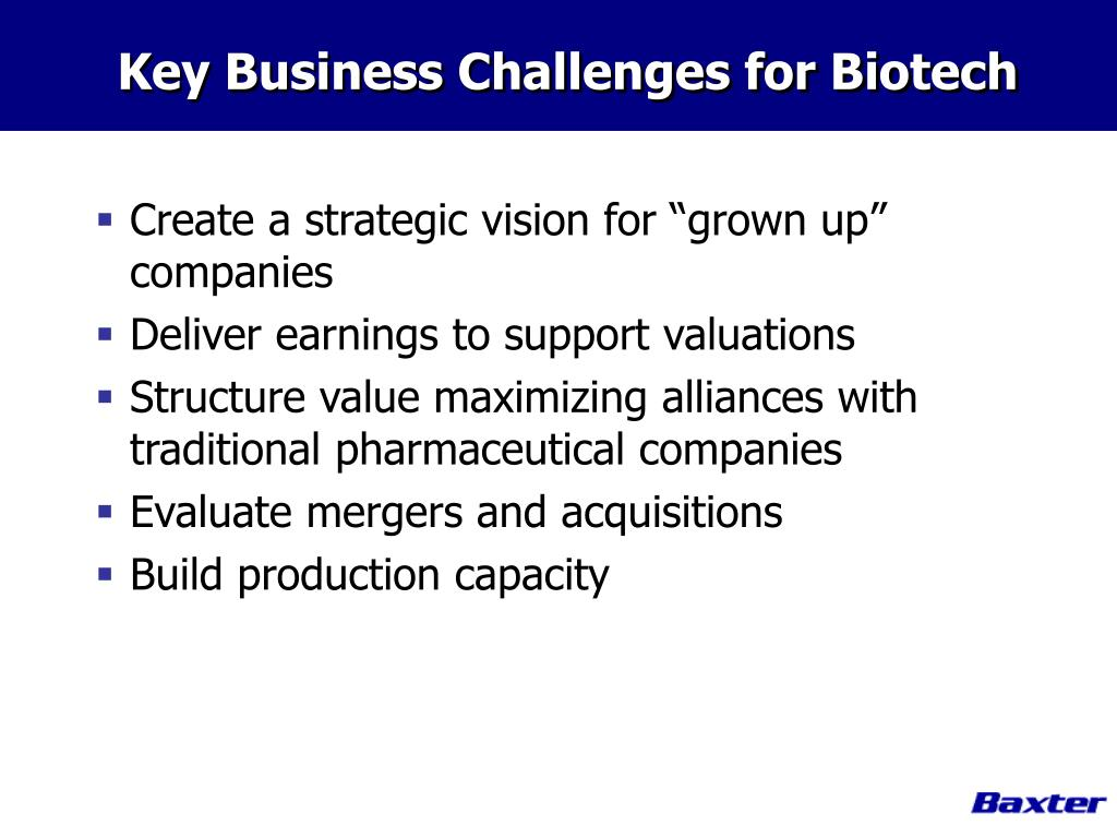 Key Business Challenges for Biotech