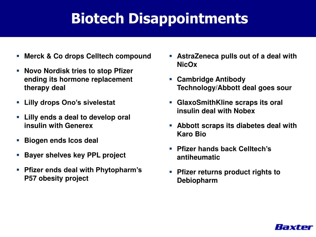 Biotech Disappointments
