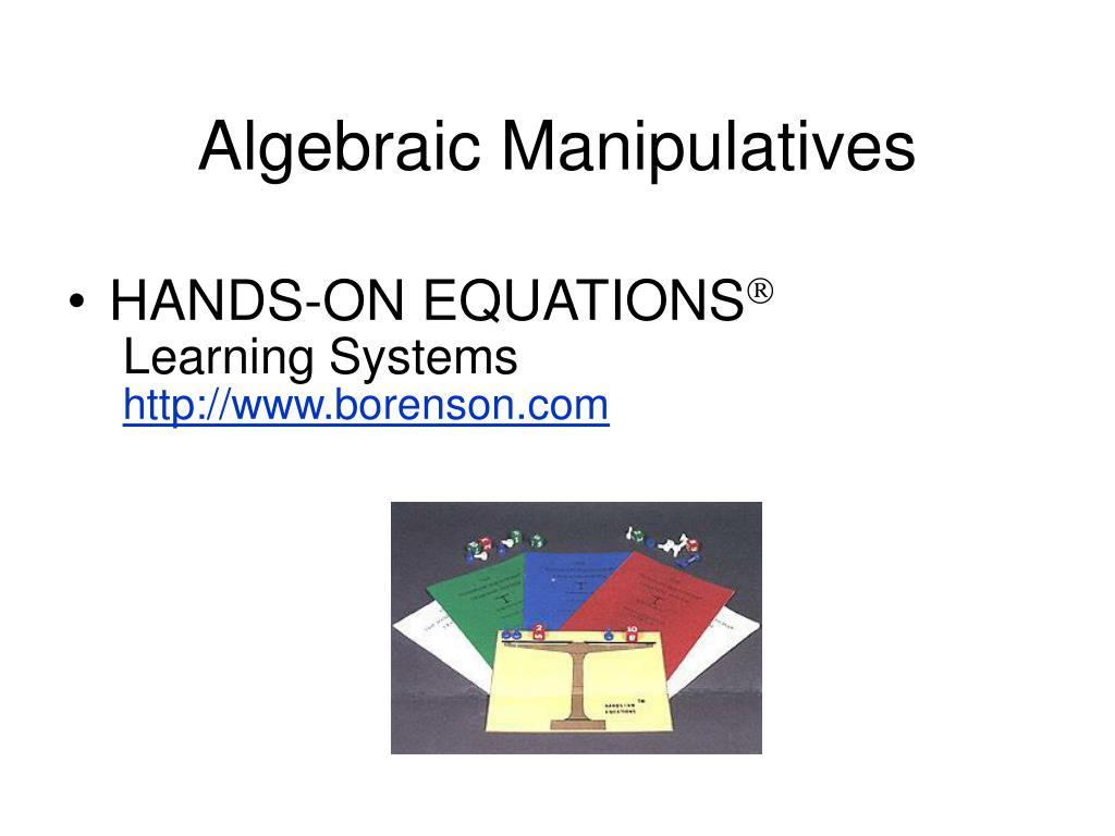 Algebraic Manipulatives