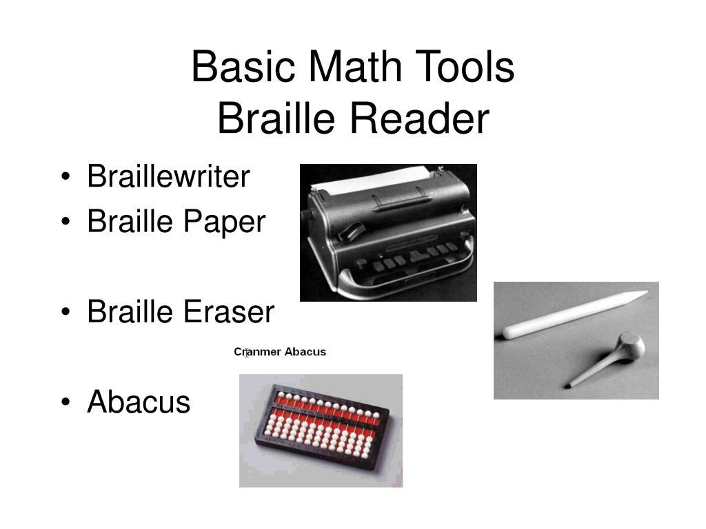 Basic Math Tools