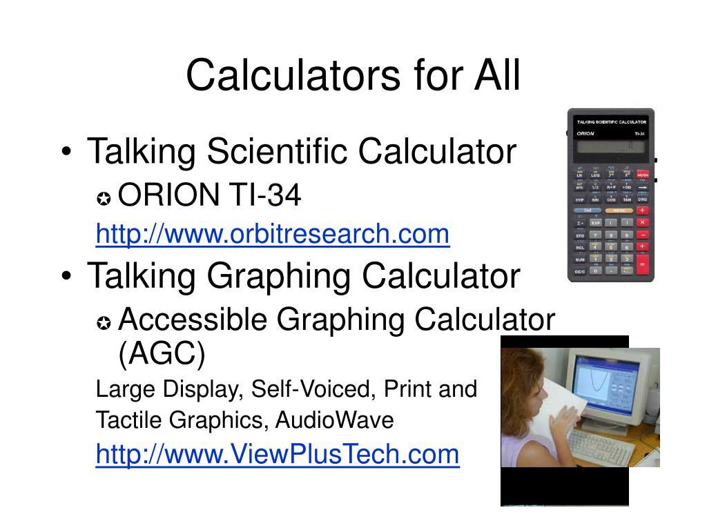 Calculators for All