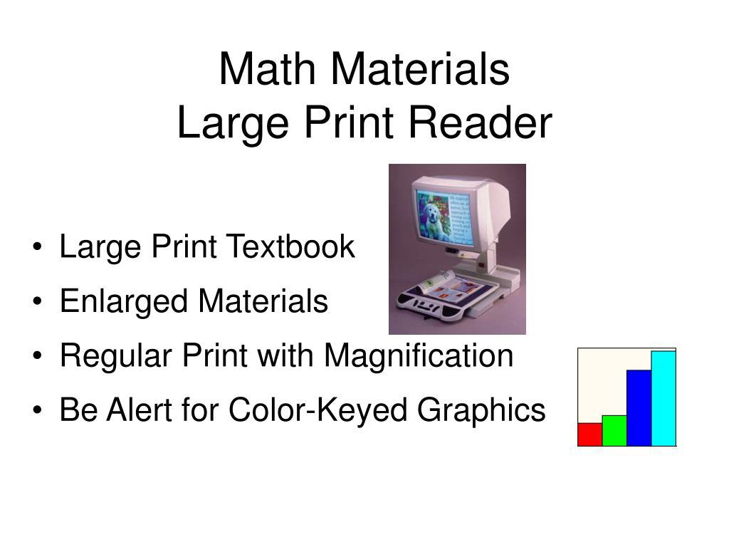 Math Materials