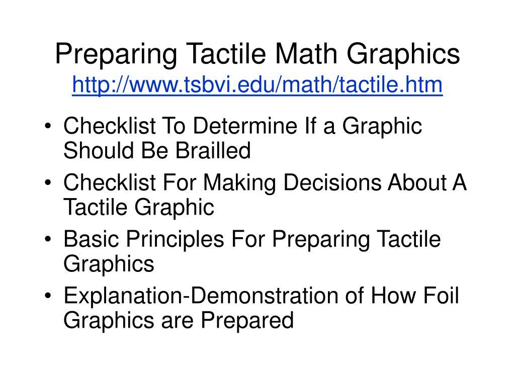 Preparing Tactile Math Graphics