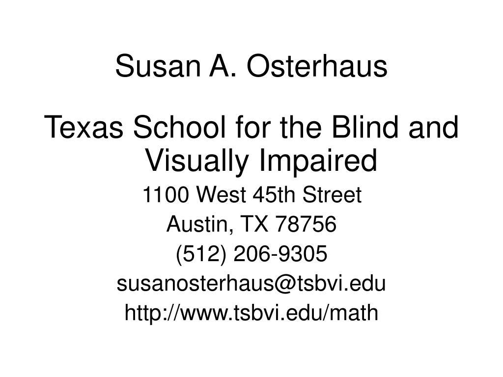 Susan A. Osterhaus