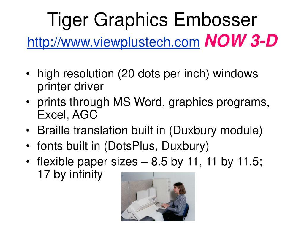 Tiger Graphics Embosser