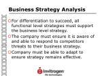 business strategy analysis