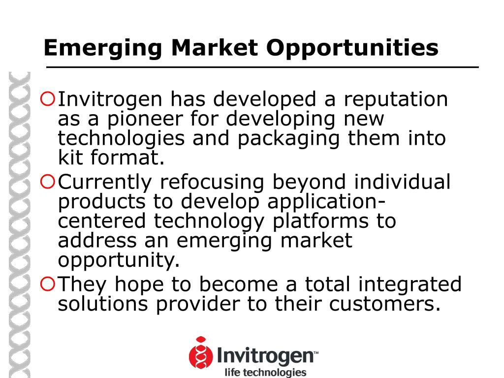 Emerging Market Opportunities