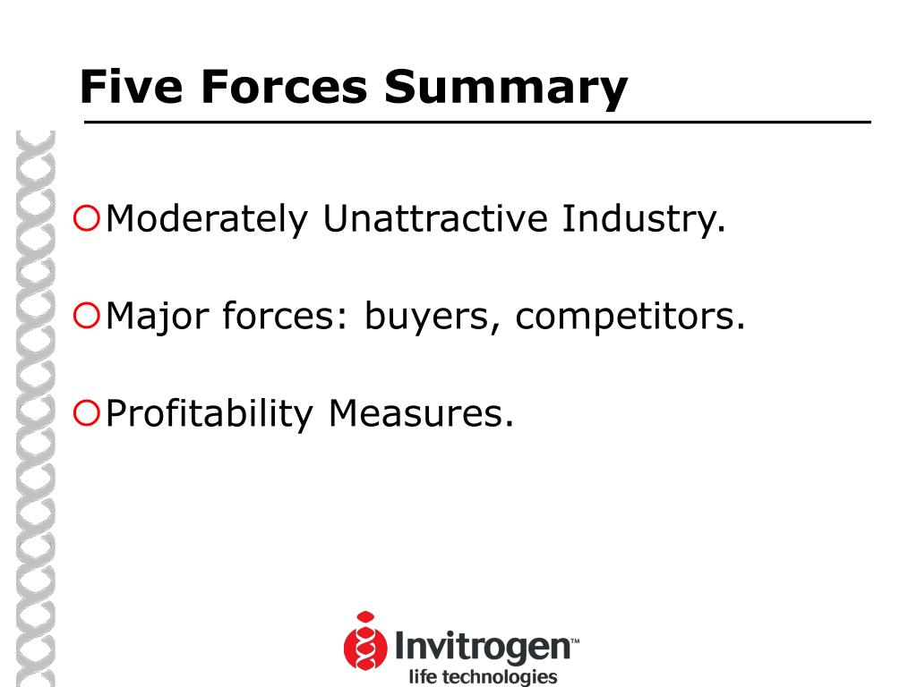 Five Forces Summary