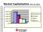 market capitalization nov 10 2003