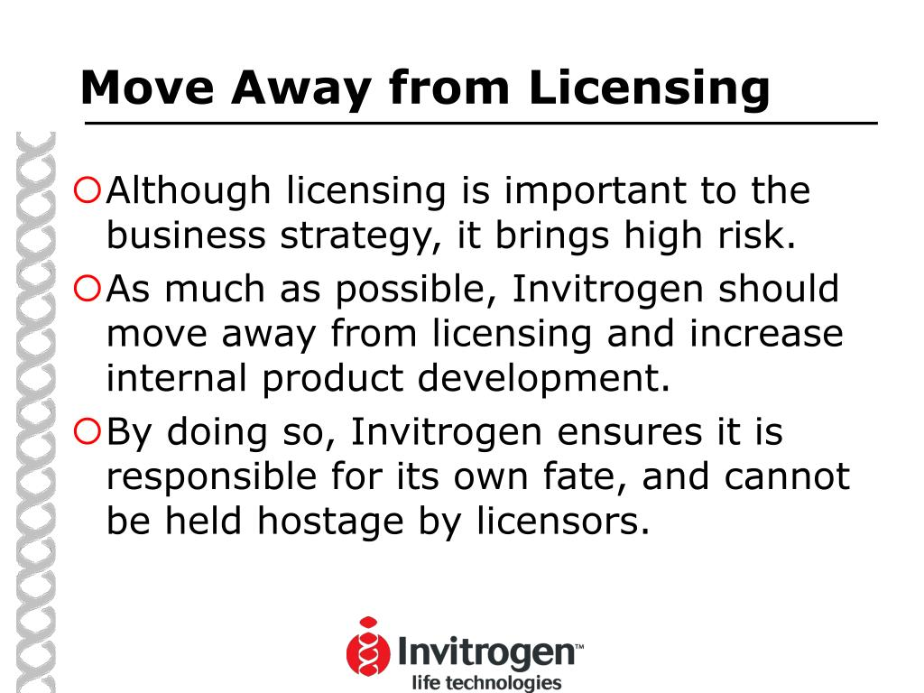 Move Away from Licensing