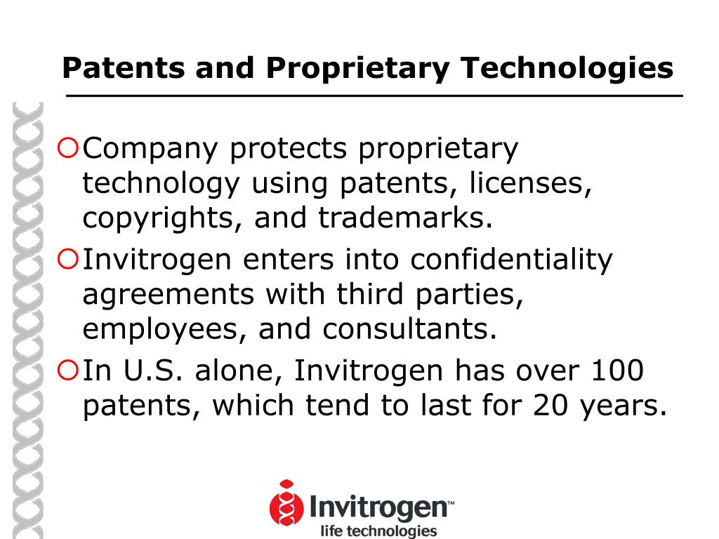 Patents and Proprietary Technologies
