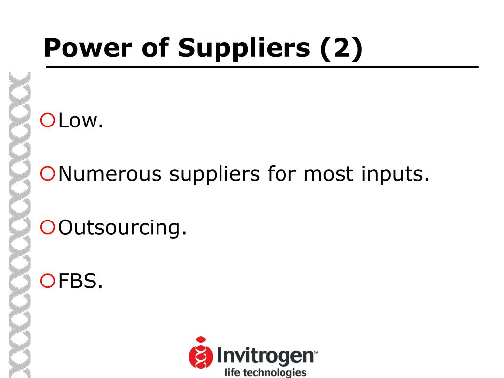 Power of Suppliers (2)