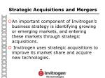 strategic acquisitions and mergers