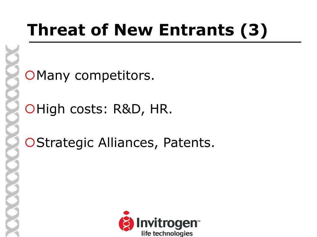 Threat of New Entrants (3)